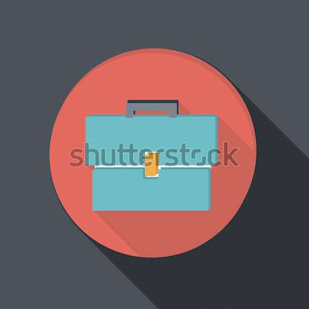 paper flat icon with a shadow, briefcase Stock photo © LittleCuckoo