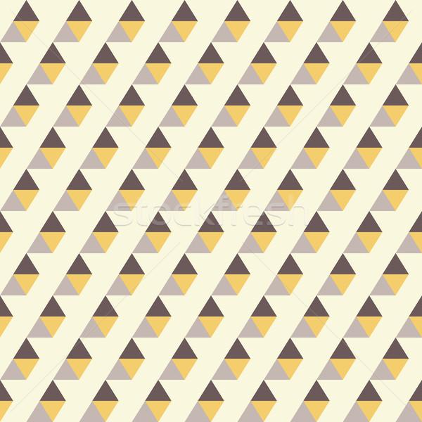Retro desen geometrik renkli mozaik afiş Stok fotoğraf © LittleCuckoo