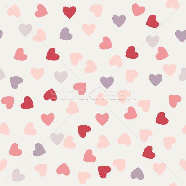 Minta szívek Valentin nap fény absztrakt keret Stock fotó © LittleCuckoo