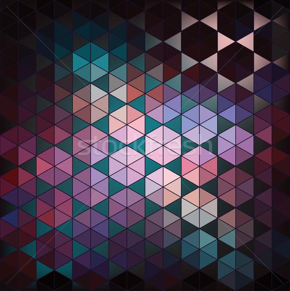 геометрический шестиугольник аннотация вектора дизайна цифровой Сток-фото © LittleCuckoo