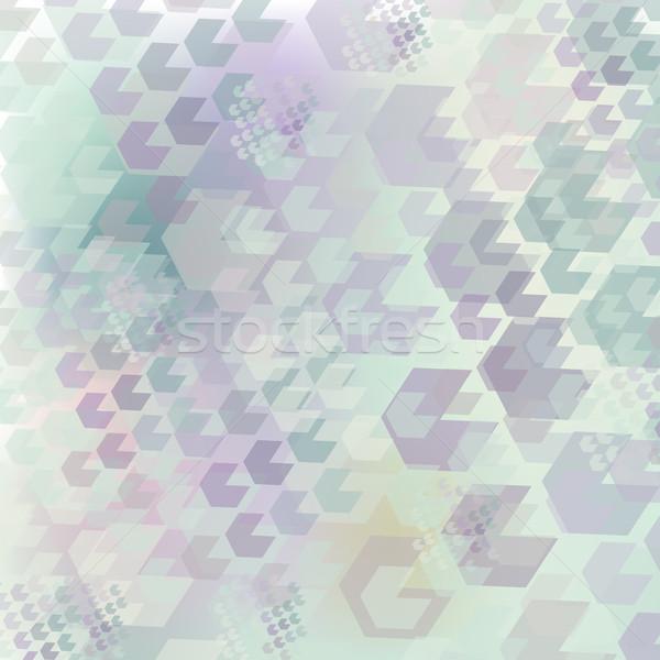 Semleges geometrikus minta hatszög orgona türkiz hely Stock fotó © LittleCuckoo