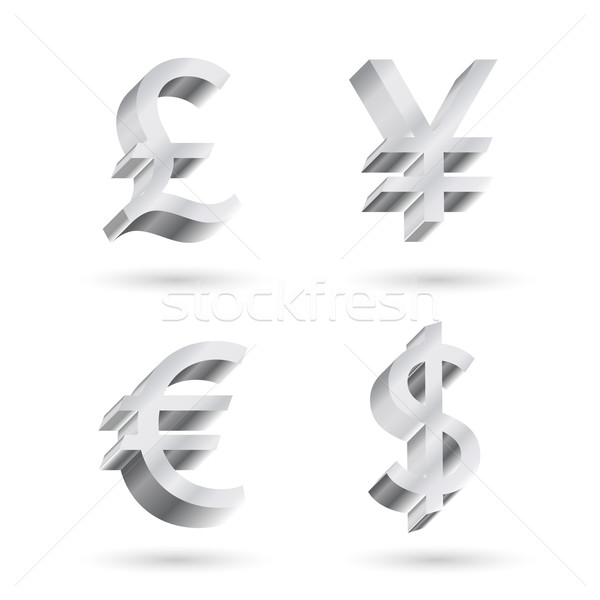 currency silver symbols Stock photo © LittleCuckoo