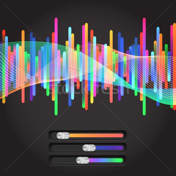 Soyut müzik ekolayzer eps 10 renkli Stok fotoğraf © LittleCuckoo