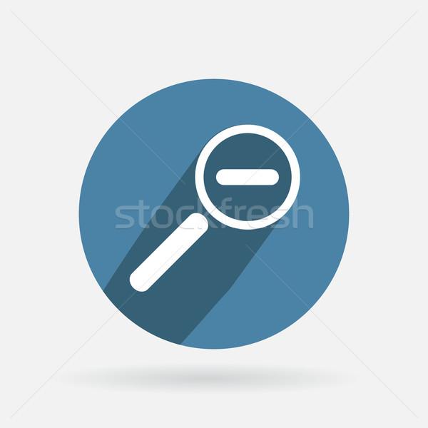 Kółko niebieski ikona cień redukcja Zdjęcia stock © LittleCuckoo