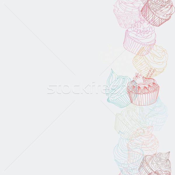 国境 パターン シームレス 甘い食べ物 テクスチャ ストックフォト © LittleCuckoo