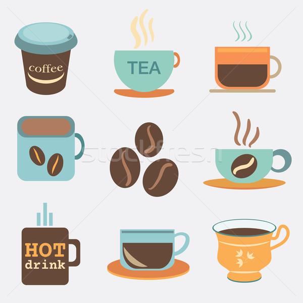 Tè tazze di caffè mug alimentare abstract Foto d'archivio © LittleCuckoo