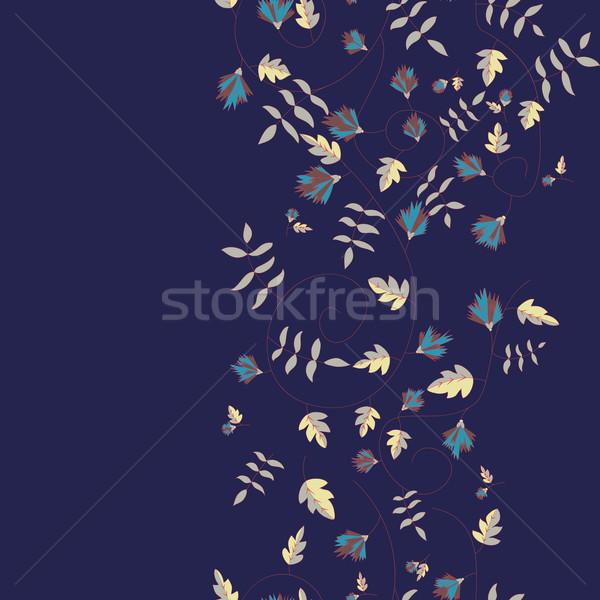 Stock fotó: Búzavirág · minta · vektor · végtelenített · textúra · természet