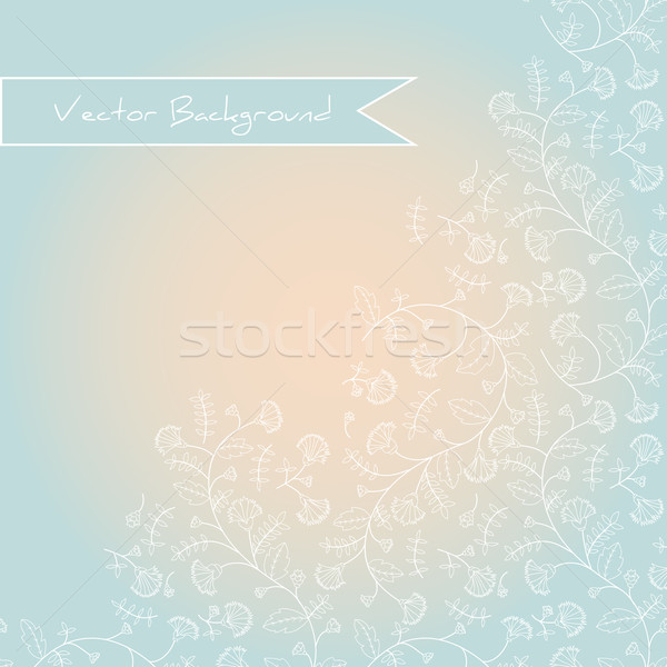 background with a silhouette of cornflowers Stock photo © LittleCuckoo