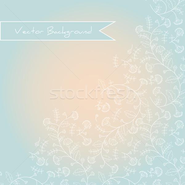 Sylwetka pastel biały rysunek papieru Zdjęcia stock © LittleCuckoo