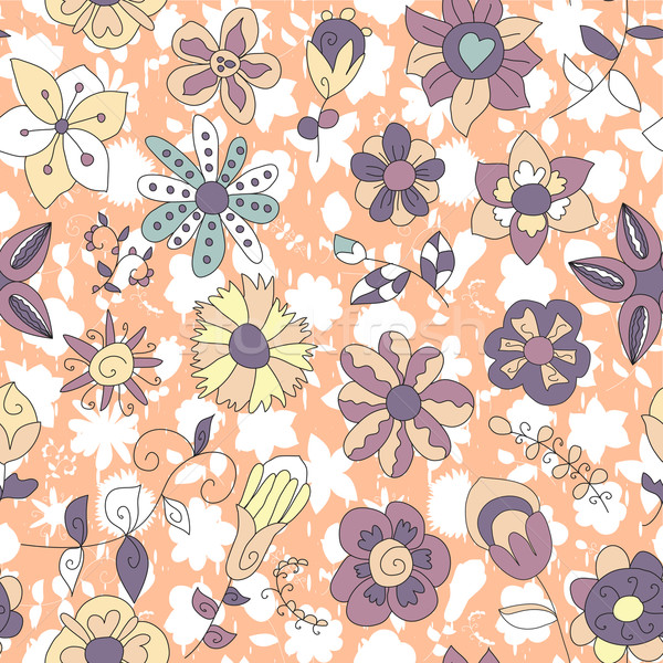 Futurista fantástico flores sin costura planta textura Foto stock © LittleCuckoo