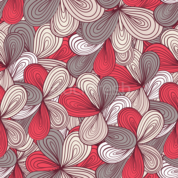 Seamless wave hand-drawn pattern, waves background Stock photo © LittleCuckoo