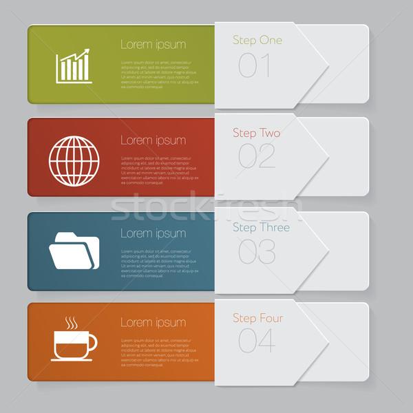 Infografía diseno número banners plantilla gráfico Foto stock © LittleCuckoo
