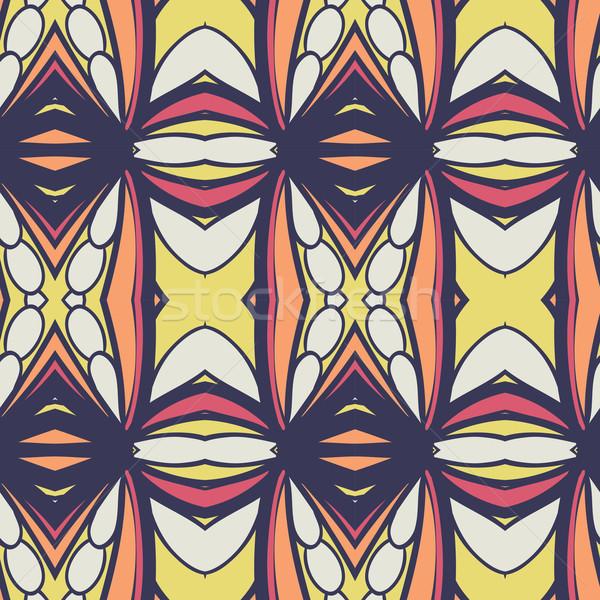 аннотация бесшовный орнамент эффект шаблон калейдоскоп Сток-фото © LittleCuckoo