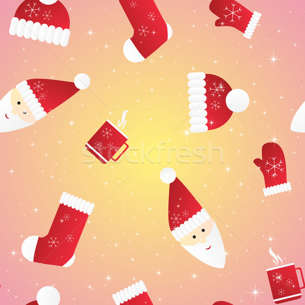 New year seamless pattern. Endless Christmas template Stock photo © LittleCuckoo