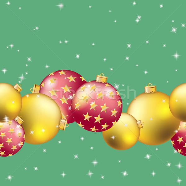 ストックフォト: パターン · クリスマス · ボール · ぼけ味