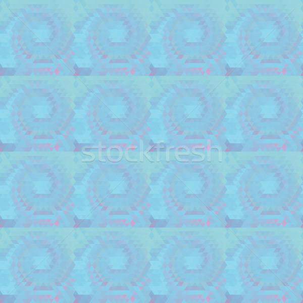 Yanılsama girdap soyut mavi renk geometrik Stok fotoğraf © LittleCuckoo