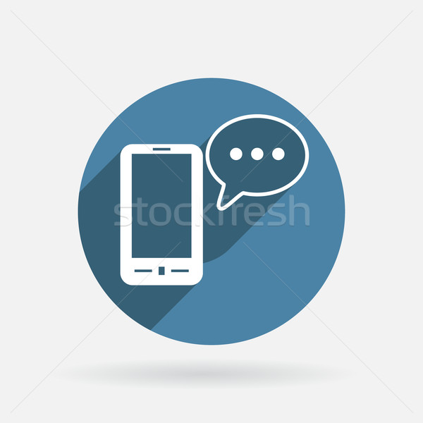 smartphone with cloud of speaking dialogue. Stock photo © LittleCuckoo