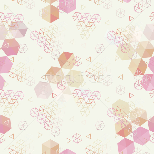 Geometric pattern of hexagons triangles Stock photo © LittleCuckoo