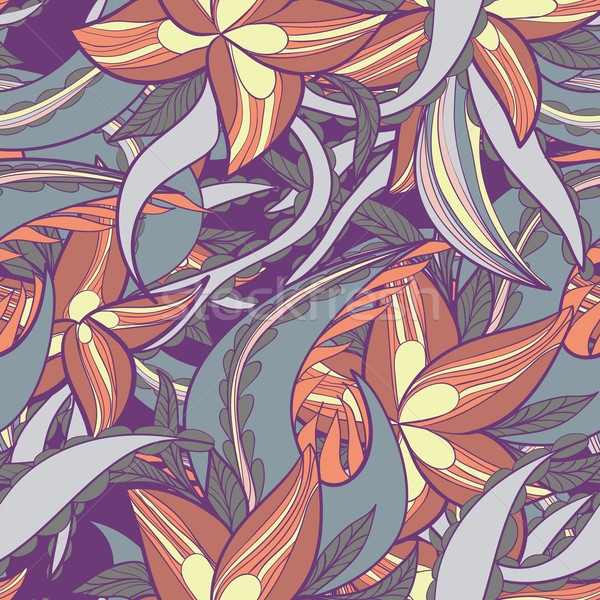 floral pattern with colorful  blooming flowers Stock photo © LittleCuckoo