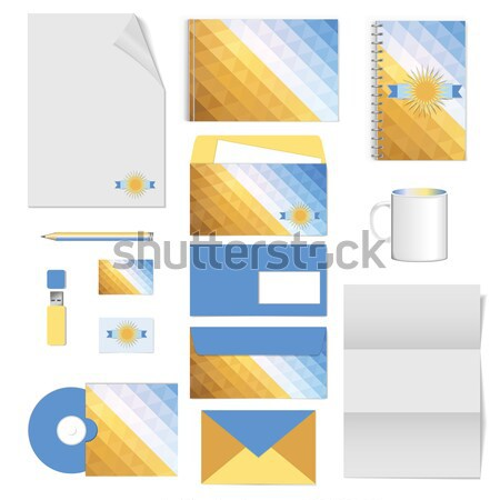 corporate identity. stationery template design. Documentation for business. Stock photo © LittleCuckoo