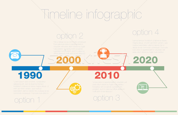 Timeline Infographic Vector Design Template Vector Illustration - Timeline design template