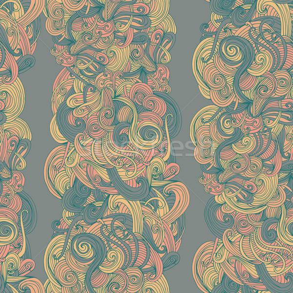 Abstract senza soluzione di continuità modello onda pattern superficie texture Foto d'archivio © LittleCuckoo