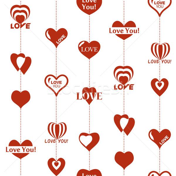 Coração padrão dia dos namorados sem costura textura corações Foto stock © LittleCuckoo