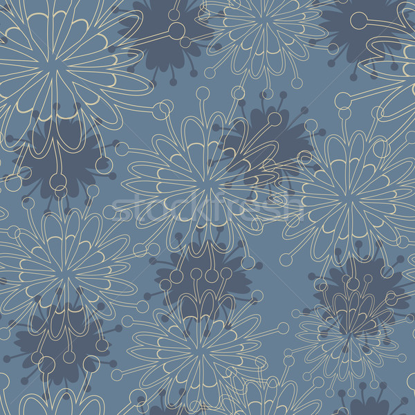 Seamless abstract floral hand-drawn texture Stock photo © LittleCuckoo