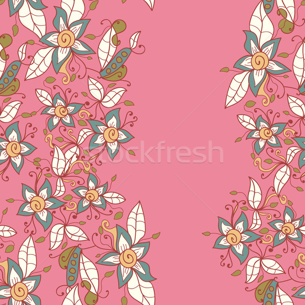 Abstrato teste padrão de flor vetor sem costura textura flor Foto stock © LittleCuckoo