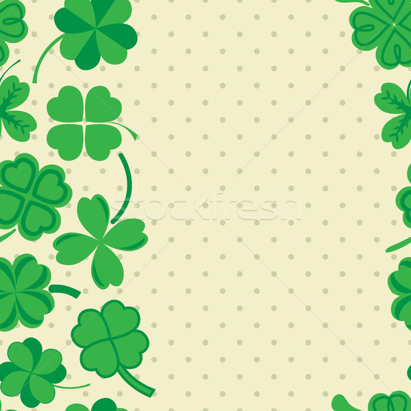 Dag patroon groene klaver naadloos vector Stockfoto © LittleCuckoo