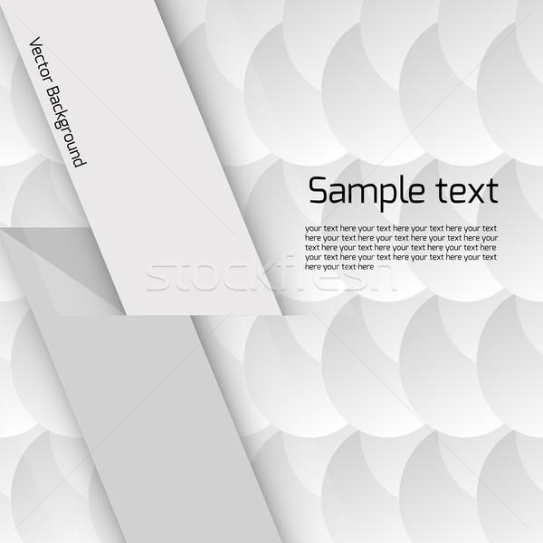 Bianco disegno geometrico cerchio luogo testo Foto d'archivio © LittleCuckoo