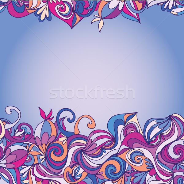 Cartão abstrato ondas padrão ondulado lata Foto stock © LittleCuckoo