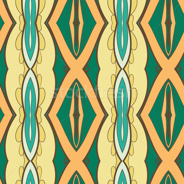 Abstract seamless ornament pattern. the kaleidoscope effect. Ethnic damask motif Stock photo © LittleCuckoo