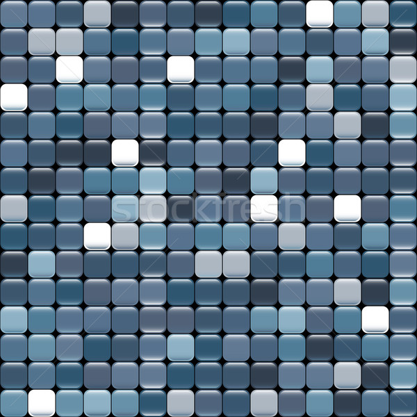 seamless blue texture of squares with glare Stock photo © LittleCuckoo