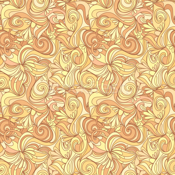 Seamless abstract gold color hand-drawn texture Stock photo © LittleCuckoo