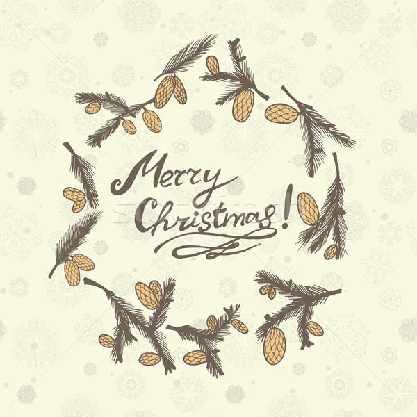 Cartão parabéns ano novo natal cartão Foto stock © LittleCuckoo