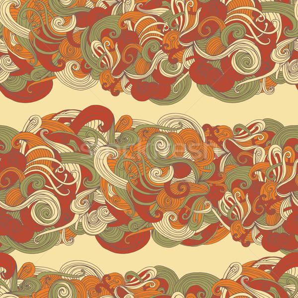аннотация бесшовный волновая картина шаблон поверхность текстуры Сток-фото © LittleCuckoo