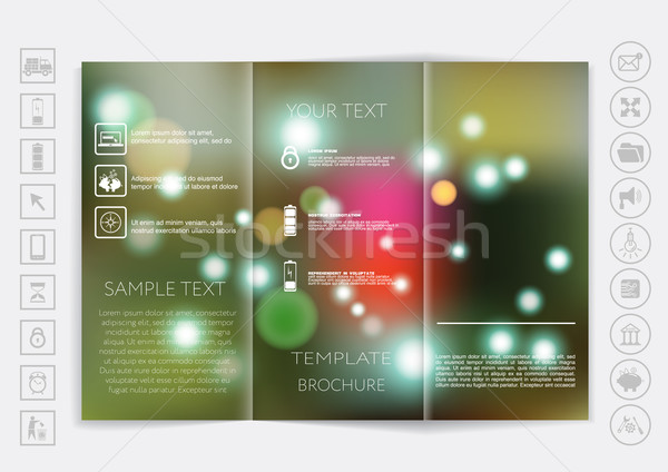 Tri-Fold Brochure mock up vector design Stock photo © LittleCuckoo