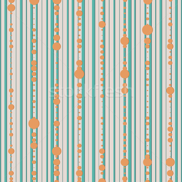 vector seamless pattern with lines and dot  Stock photo © LittleCuckoo