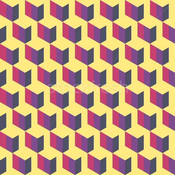 Rosa viola giallo grafica pattern abstract Foto d'archivio © LittleCuckoo
