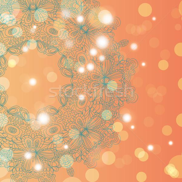 Mandala ozdoba geometryczny kółko ramki Zdjęcia stock © LittleCuckoo