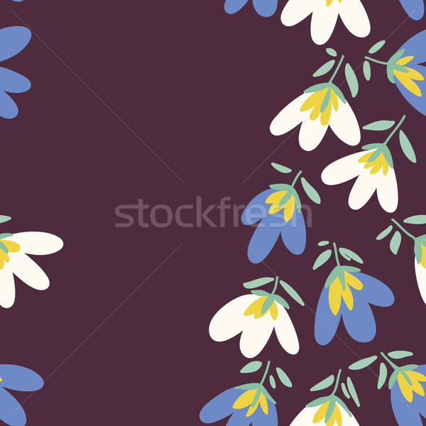 Flower pattern. Spring vector hand-drawn doodle  Stock photo © LittleCuckoo