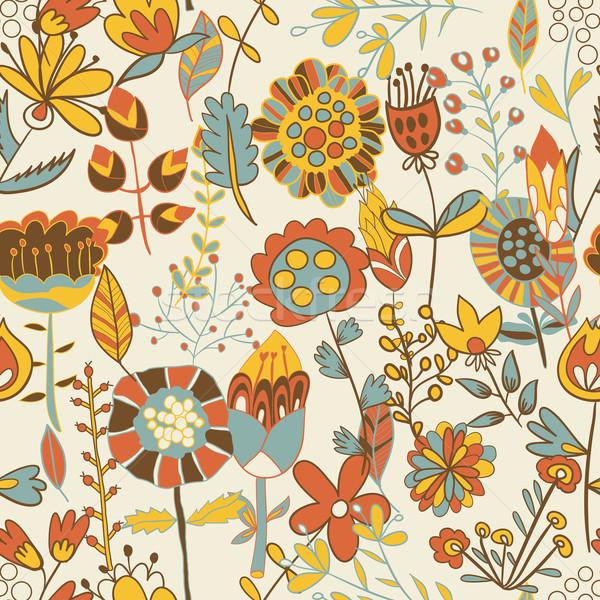 シームレス テクスチャ 花 エンドレス フローラル パターン ストックフォト © LittleCuckoo