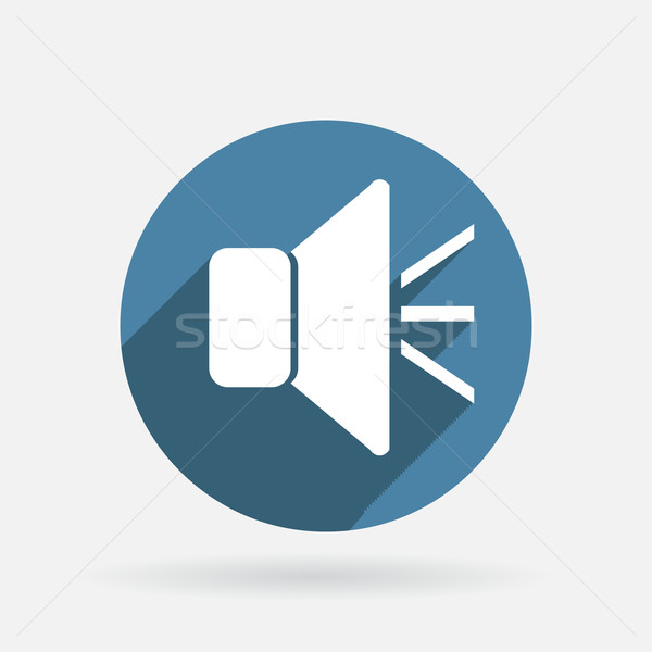 loudspeaker. Circle blue icon with shadow. Stock photo © LittleCuckoo