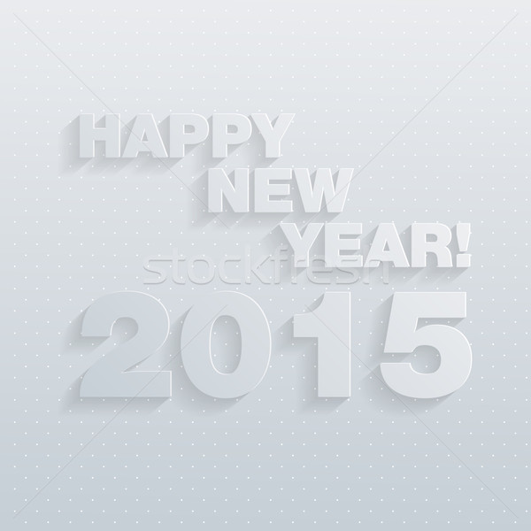 Stock photo: Vector 2015 Happy New Year background in Typography style