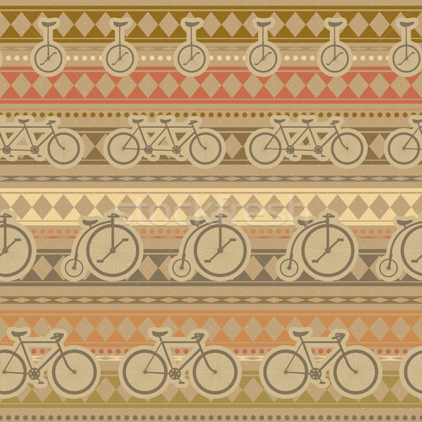 ретро велосипед шаблон бесшовный текстуры Сток-фото © LittleCuckoo