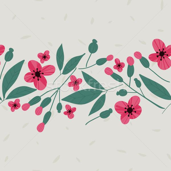 Vektör model karalama çiçekler Stok fotoğraf © LittleCuckoo