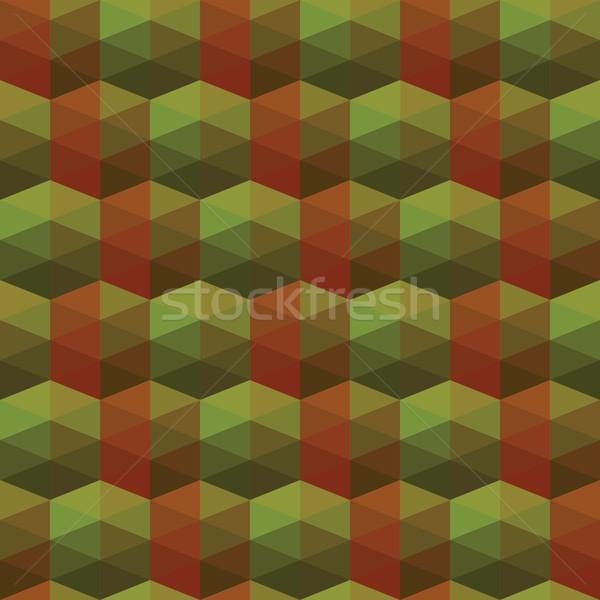 Naadloos textuur illusie zeshoek behang patroon Stockfoto © LittleCuckoo