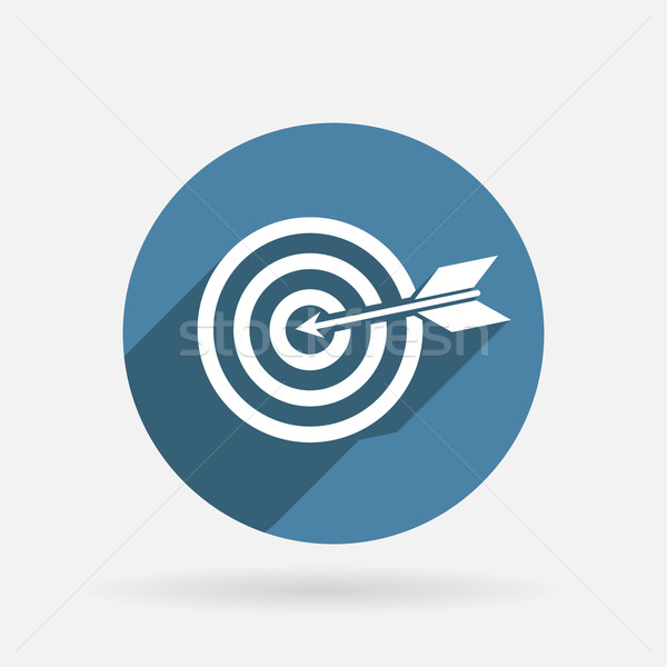target. Circle blue icon with shadow Stock photo © LittleCuckoo
