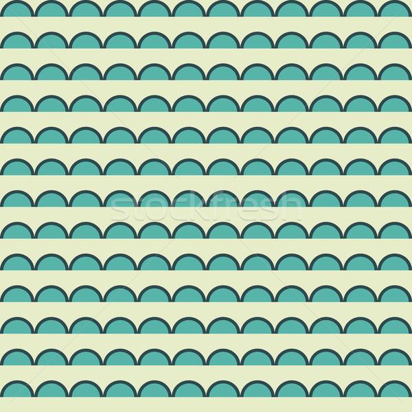 Geometria vetor padrão círculo sem costura ornamento Foto stock © LittleCuckoo